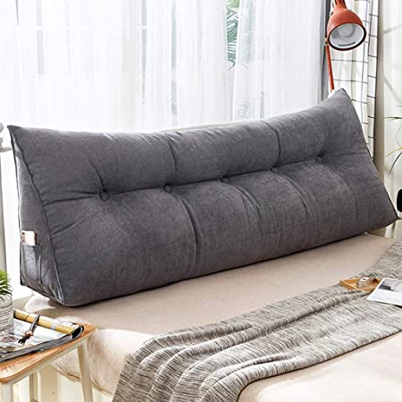 Z Life Sofa Bed Upholstered Cushion Headboard Reading Backrest Support Triangular Large Wedge Pillow Double Bed Long Lumbar Pillow Color Gray Size 60 23 50cm Amazon Co Uk Kitchen Home