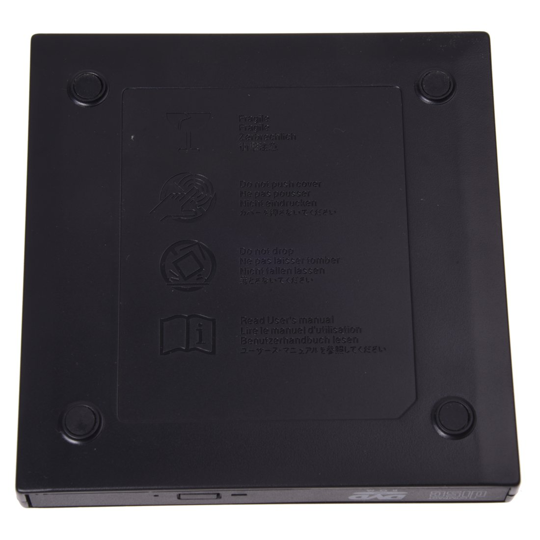 SODIAL (R) USB Caja externa para 12.7mm grabadora de CD / DVD Rom Laptop