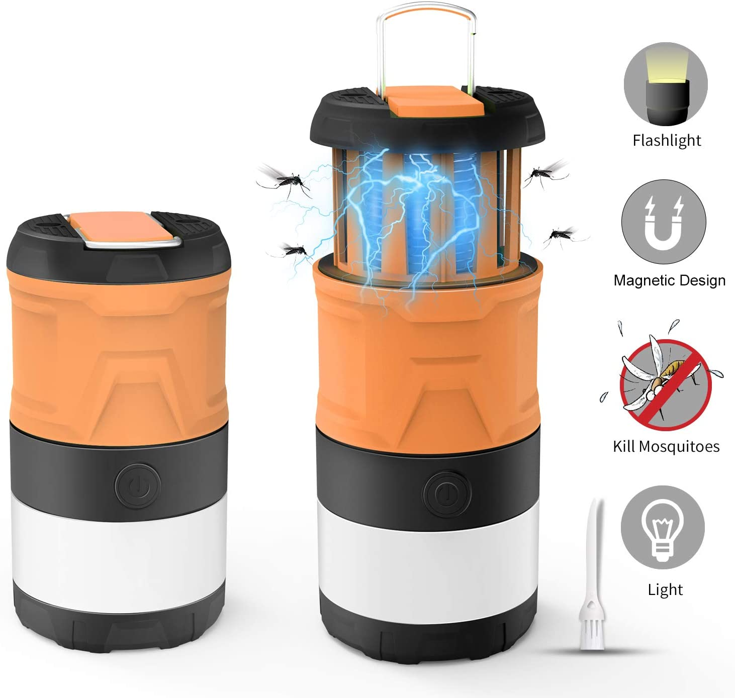 Camping Lantern, LED Camping Lamp, Bug Zapper, Magnetic Telescopic IPX4 Waterproof Flashlight, 3-in-1 Camping Light with 2000mAh Rechargeable Battery for Camping Outdoor Hiking Emergency Lighting: Sports & Outdoors