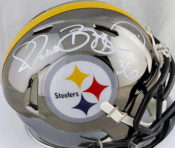 7dbc215fe49 Amazon.com  Jerome Bettis Autographed Pittsburgh Steelers Chrome Mini Helmet  - Beckett W Auth White  Sports Collectibles