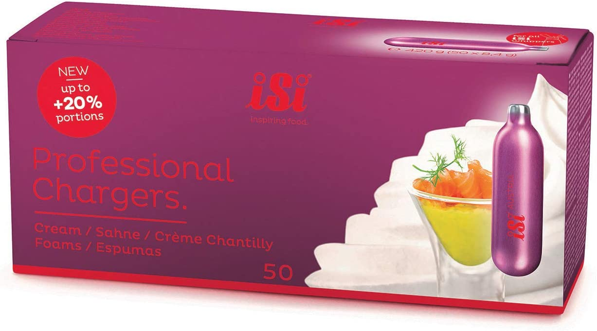 iSi North America 074599 whipped cream chargers, Professional 50-Pack