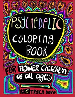 psychedelic coloring book coloring book for flower children of all ages - Psychedelic Coloring Book