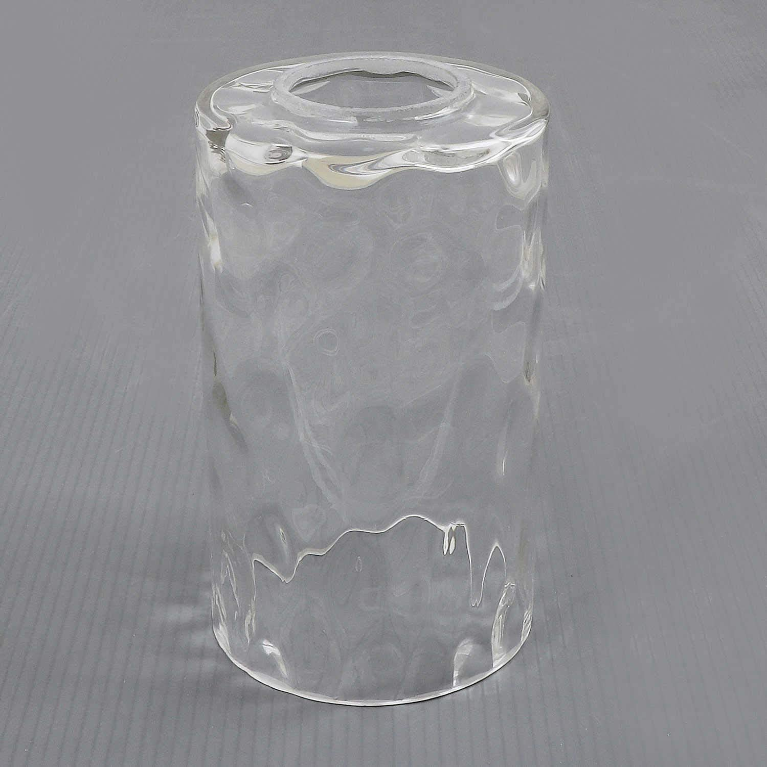 Anmire Water Pattern Style Clear Glass Shade, Accessory Lamp Shade or Fixture Replacement Glass Globe with 1-5/8-Inch Fitter, G0001