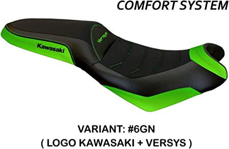 Bezug Für Sattel Kawasaki Versys 650 Mod Elba 2 Comfort System Tappezzeria Italia Grün Auto