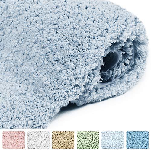 Norcho 17″x27″ Bath Mat Indoor Doormat Non Slip Rubber Backing Door Mat for Front Door Entrance Rugs Machine Washable Mats Light Blue