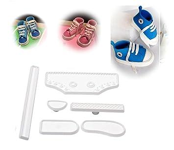 Molde para corte de pasta de azúcar, piezas para zapatilla: Amazon.es: Hogar