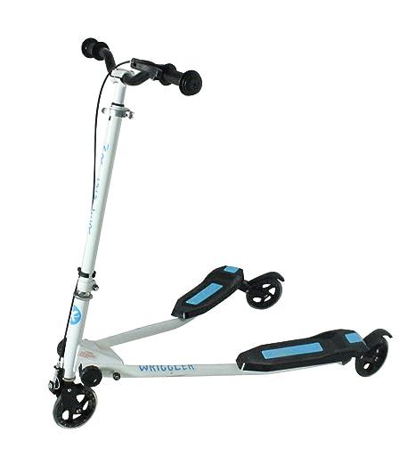 Kidzmotion niño inquieto vagabundo 3 ruedas scooter de oscilación reductor de velocidad (edad 5 - 9) azul