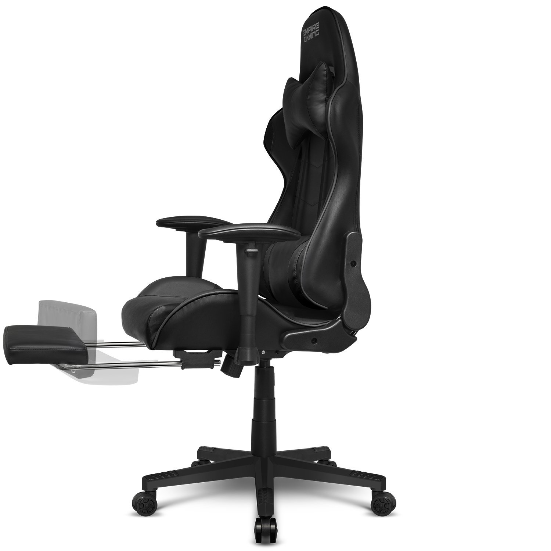 Empire Gaming - Sillón Racing 800 serie Negra - Reposapiés y forma de asiento deportivoacolchado ultra confortable - Reposabrazos 2D ajustables ...