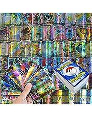 Pokemon-kaarten, GX-verzamelkaarten, 100 stuks, (60 V + 40 V max), kaarten GX Vmax, GX-kaartenset, Beast GX-kaarten, verzamelkaarten voor Pokemons, Pokemonkaarten, verzamelkaarten