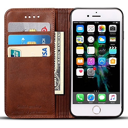 Wallet Case Compatible iPhone XR/iPhone 10R, Premium PU Leather Wallet Case Flip Folio [Kickstand Feature] with ID&Credit Card Pockets for iPhone 10R/ XR 6.1 inch -