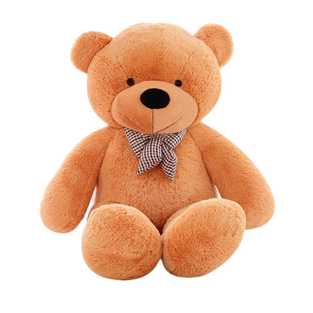 MorisMos Giant Cute Soft Toys Teddy Bear for Girlfriend Kids Teddy Bear (Light Brown, 55 Inch) by MorisMos