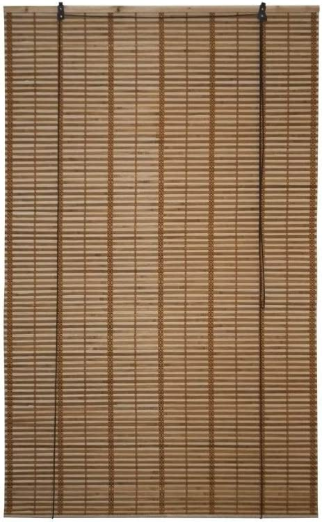 ALEKO Natural Bamboo 39 X 64 In Light Brown Midollinos Style Blinds