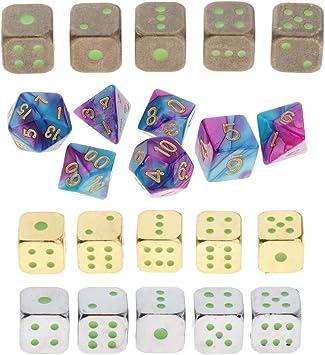 IPOTCH 22x Dados Poliédricos de Bloques Dados de Juego de rol para Niños DIY Artesanía: Amazon.es: Juguetes y juegos