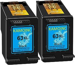 KAMOINC Remanufactured Ink Cartridge Replacement for HP 63 63XL Envy 4520 4512 4516 4516 OfficeJet 3830 3833 4650 5255 5264 DeskJet 3630 3632 3634 2130 2132 (2 Black)