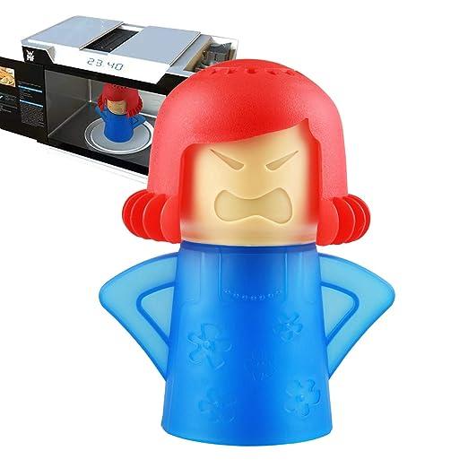 Angry Mama Microondas Limpiador Frigorífico Desodorante Horno Vapor Olor Absorbente Congelador Olor Ambientador Removedor Herramienta de Limpieza de ...