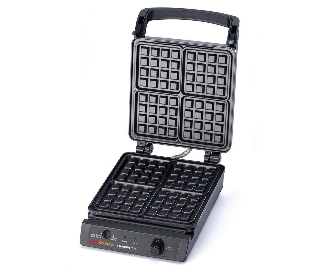 Chef'sChoice 854 International Classic WafflePro 4-Square Waffle Maker Model 854 & Zonoz ez-Mini Grab and Lift Silicone Tongs (Bundle) by Chef's Choice (Image #3)