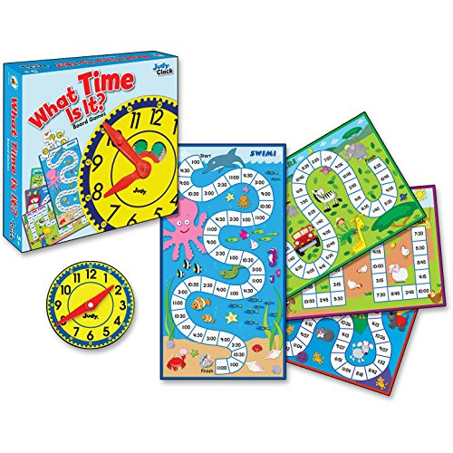 COU Carson-Dellosa 140314 4-in-1 Board Game, What Time is it