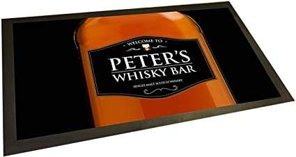 Tapete para bar de whisky personalizable: Amazon.es: Hogar