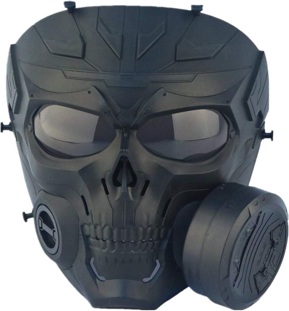 FOJMAI - Máscara antivaho con lente ahumada antivaho con ventilador turbo táctico, airsoft, paintball, protección mecánica, calavera