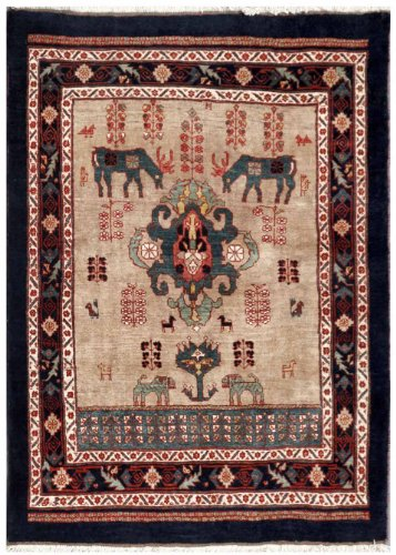 Beige 3' x 4' Qashqai Rug Hand Knotted Persian Rug for sale  Delivered anywhere in USA