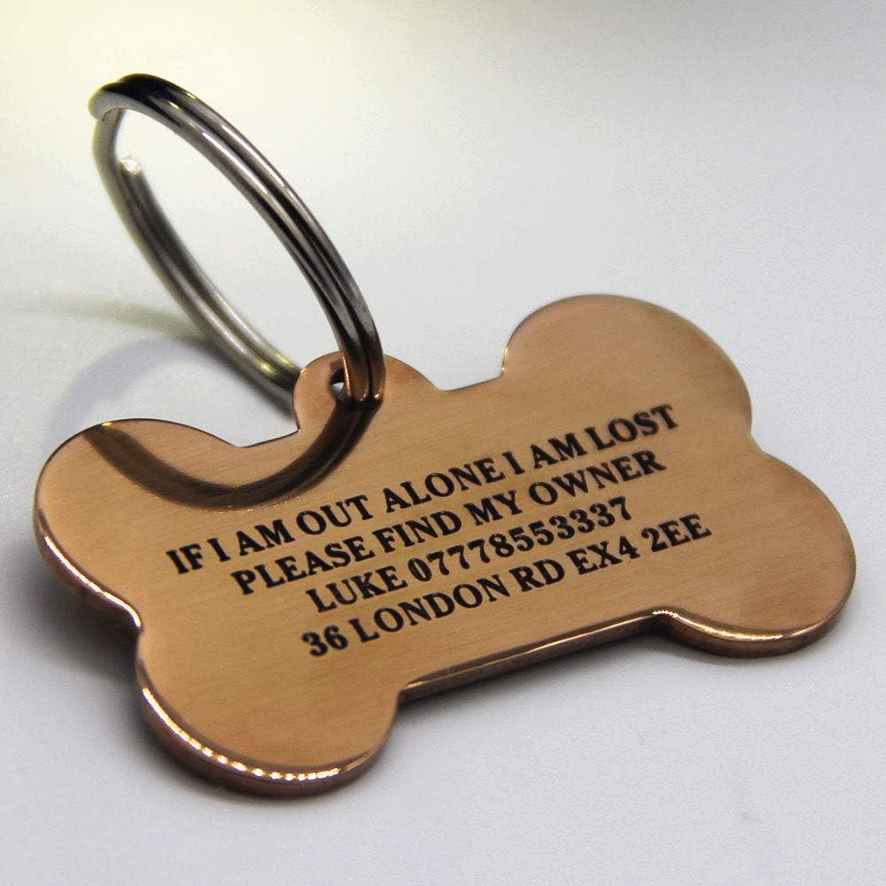 f/ür Hunde Katzen mit Gravur Welpen Personalisierbares Namensschild f/ür das Halsband f/ür Haustiere von PaddingPaws