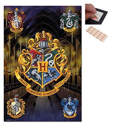 Bundle - 2 Items - Harry Potter Crests Poster - 91.5 x 61cms