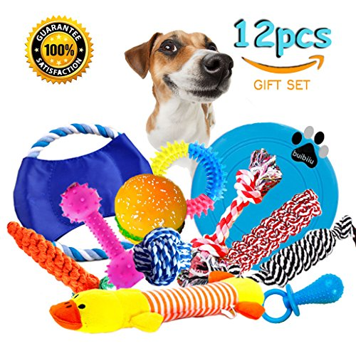 Dog Rope Toys Dog Teething Toys Best Chew Toys for Teething Puppy 12 pcs Gift (Plush Pacifier Dog Toy)