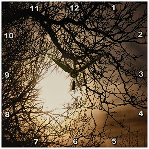 3dRose Golden Though Clock 10 Inch