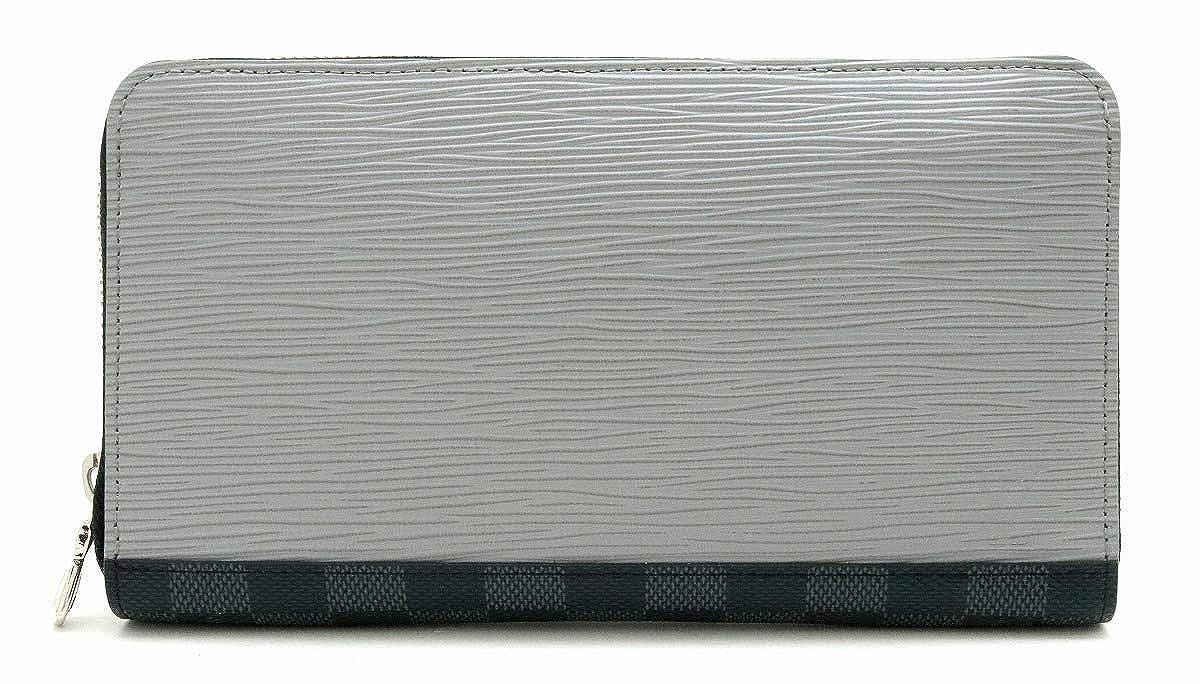[ルイ ヴィトン] LOUIS VUITTON エピ ダミエグラフィット ジッピーオーガナイザーNM ラウンドファスナー PVC レザー グレー ブルー イニシャル M62930 [中古] B07RQXVK84