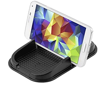 Smartphone Funda Antideslizante Pad, almacenamiento, estante para coche, salpicadero, monedas, bolígrafos
