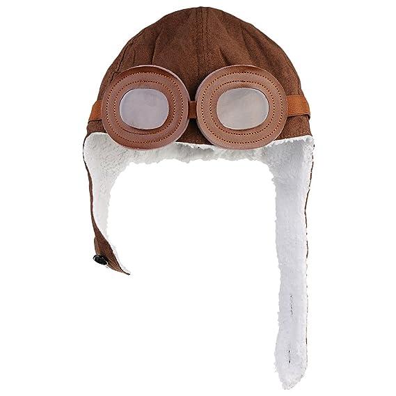 MagiDeal Nuevo bebé del invierno con orejeras Piloto Aviador Cap Gorros  Casquillo de Vuelo  Amazon.es  Ropa y accesorios a46318b9ed0