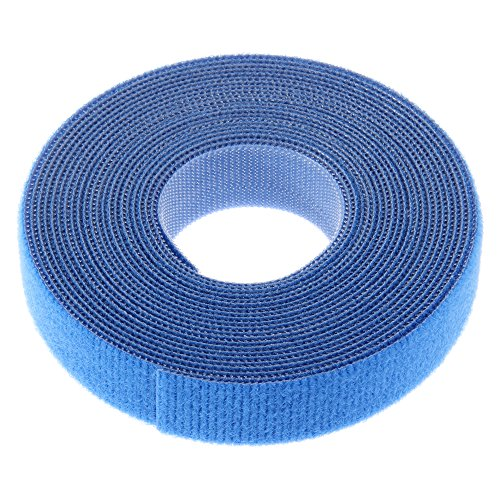 Panduit HLS-75R0 Hook and Loop Roll Cable Tie, 75-Foot Length, Black