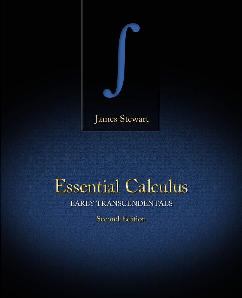Student Solutions Manual for Stewart's Essential Calculus: Early  Transcendentals, 2nd: James Stewart: 8601400364017: Books - Amazon.ca