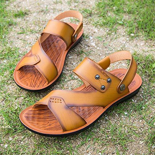 Doppio Scarpe da 40 Comfort Da spiaggia EU Marrone Scarpe Sportivo Wagsiyi Colore pantofole Uomo Dimensione Da Spiaggia Da Di Sandali Casual Paio Marrone Spiaggia q14zw4a7