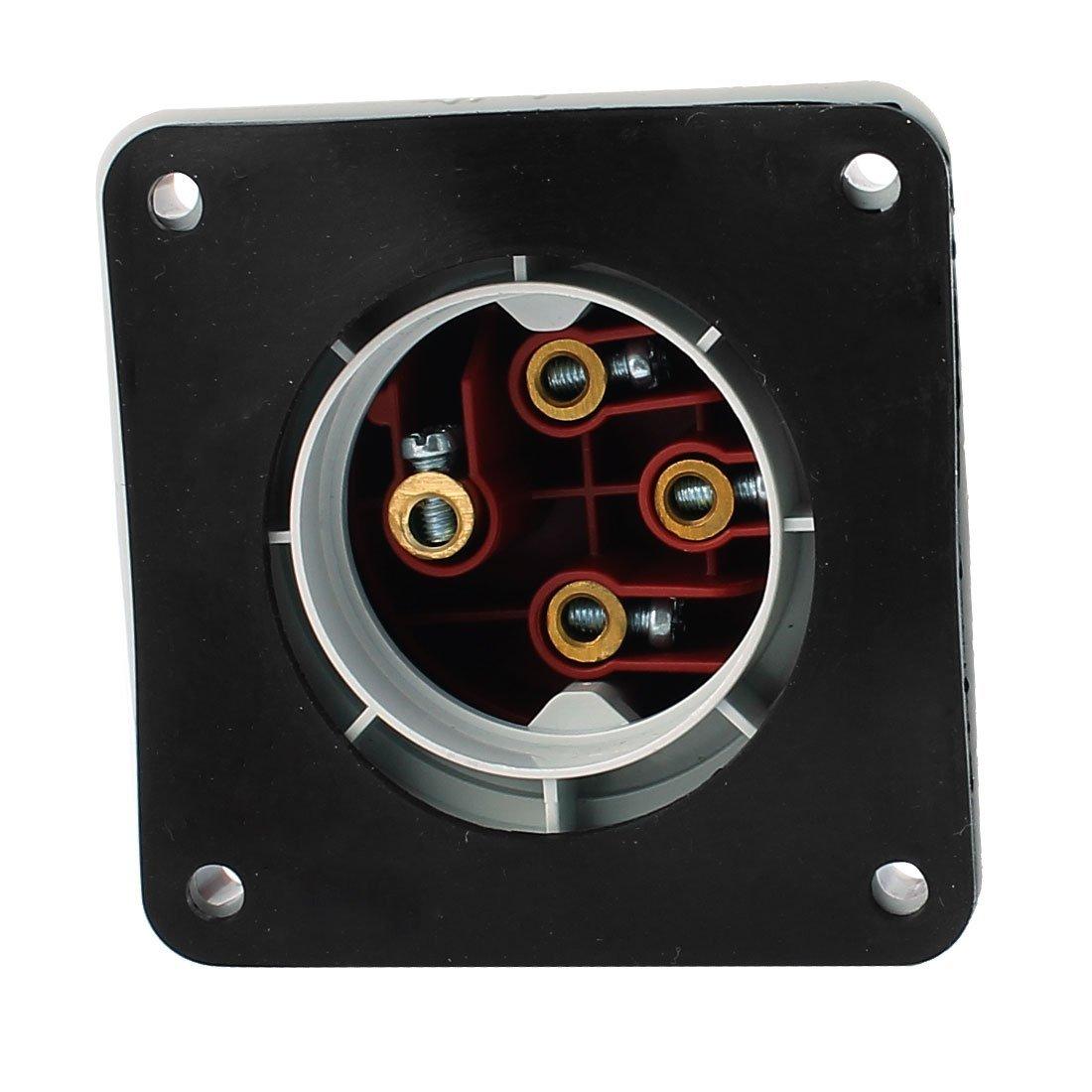 Amazon.com: eDealMax Panel Industrial AC 380V-415V 32A IP44 3P + E 4 Terminal Macho de montaje Plug: Electronics