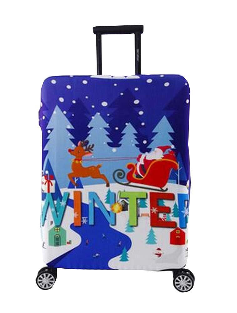 Prevenir la cubierta de la arañazos [Navidad] maleta del equipaje elástico protector de la de cubierta ec775f