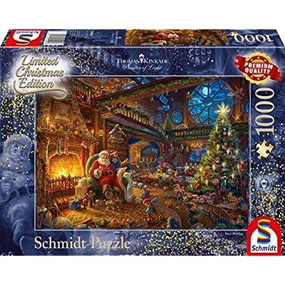 Schmidt Spiele 59494 Puzzlethomas Kinkade Babbo Natale E I Suoi Gnomi Edizione Limitata 1000 Pezzi Multicolore
