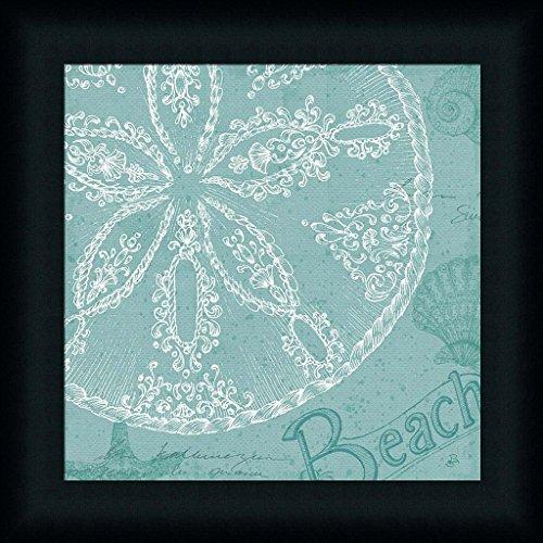 Aqua-Treasure-II-Daphne-Brissonnet-Beach-Sand-Dollar-Art-Print-Framed-Picture-Wall-Dcor-Artwork