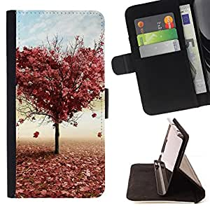 For Samsung Galaxy Core Prime Tree LOVE Style PU Leather Case Wallet Flip Stand Flap Closure Cover