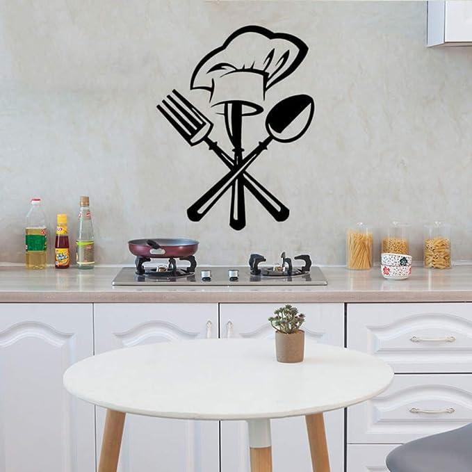 Cuchillería Creativa Cuchillo Tenedor Chef Sombrero Etiqueta ...