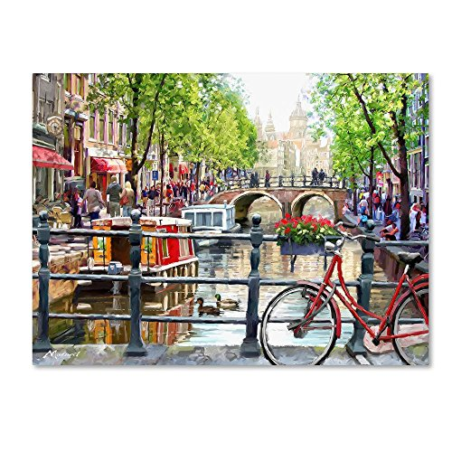 Amsterdam Landscape by The Macneil Studio, 35x47-Inch Canvas Wall Art ()
