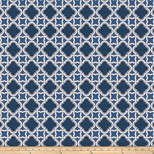 Fabricut Stock Lattice Barkcloth Navy