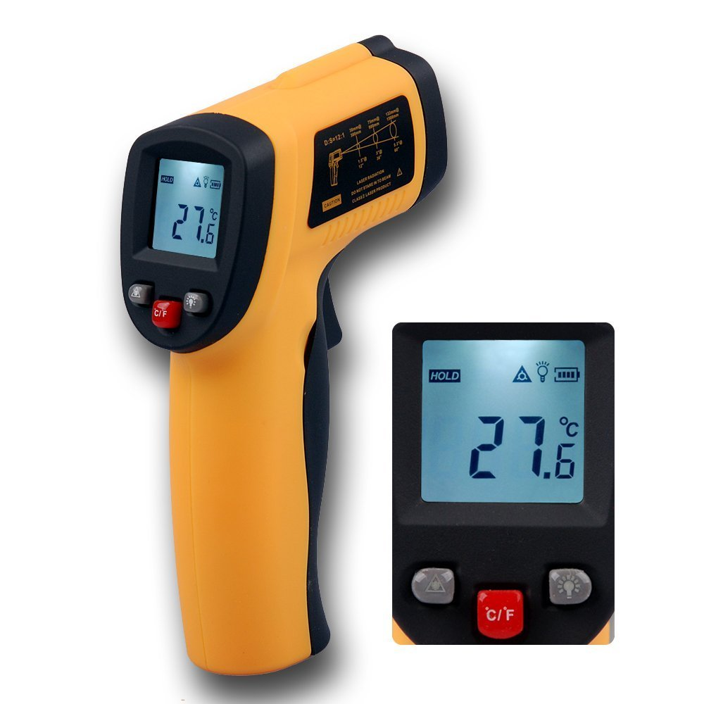 Cromsshack Temperature Gun-infrared Thermometer-contactless Ir Readings-50 to 380-58 to 716 Fahrenheit to Celsius- Tympanic-digital Pyrometer-accurate Digital Surface Ir Thermometer