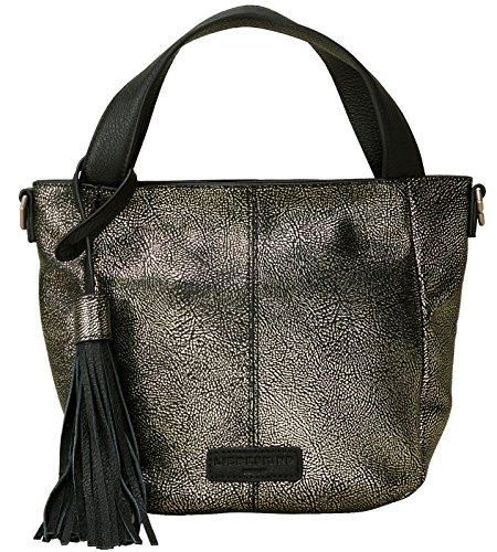 Silver Liebeskind Minneapoli Berlin Liebeskind Womens Silver Satchel Berlin Zipper Womens OpqU47