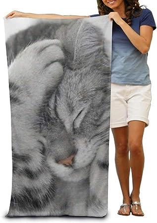 Hustor Toalla de baño para Gatos con diseño de Gatito de Playa Suave, 78,7 x 137,1 cm, Toalla de Playa con diseño único: Amazon.es: Hogar