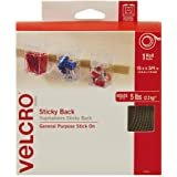 VELCRO Brand - Sticky Back Hook and Loop Fasteners – Peel and Stick Permanent Adhesive Tape Keeps Classrooms, Home, and Offic