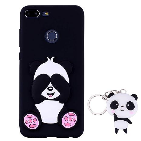 HopMore Panda Funda para Huawei Honor 9 Lite Silicona con Diseño 3D Divertidas Carcasa TPU Ultrafina Case Antigolpes Caso Protección Cover Dibujos ...