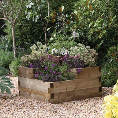 Jardinera con gradas elevadas, diseño caledonia: Amazon.es: Jardín