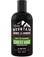 Men's Shampoo - Tea Tree Oil, Peppermint & Eucalyptus for All Hair Types – Made in Canada - Prevents Dry Itchy Scalp – Paraben, SLS & DEA Free - 8oz - by Rocky Mountain Barber Company