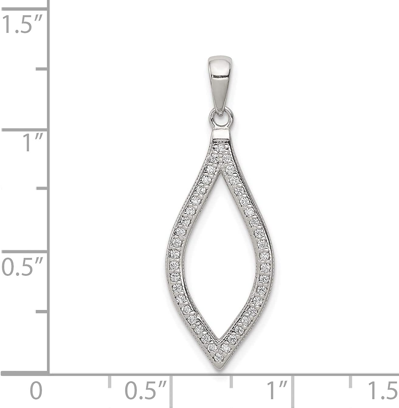 Mireval Sterling Silver CZ Pendant